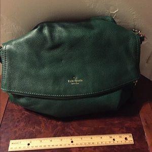 Kate.Spade Hunter green slouch bag. Like new